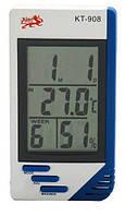 Гигрометр термометр часы KT-908 с выносным датчиком