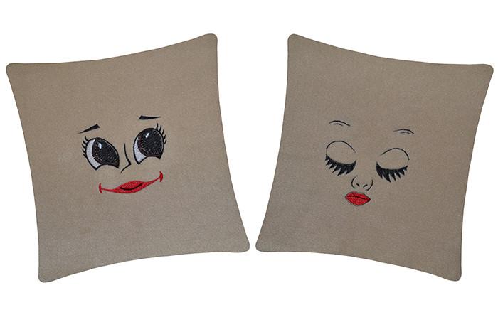 Декоративные подушки набор Глазки. Разные цвета