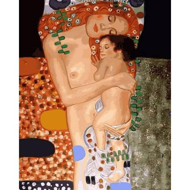 Картина по номерам Любовь матери. Худ. Климт Густав, 40x50 см., Babylon