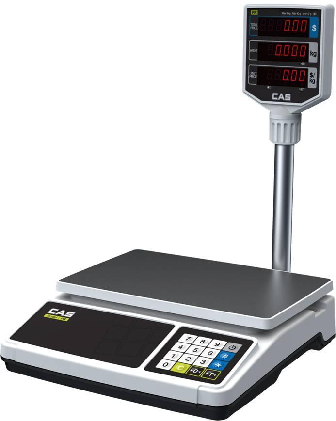 Весы электронные торговые со стойкой CAS PR-15 P (6 кг, 15 кг, 30 кг)