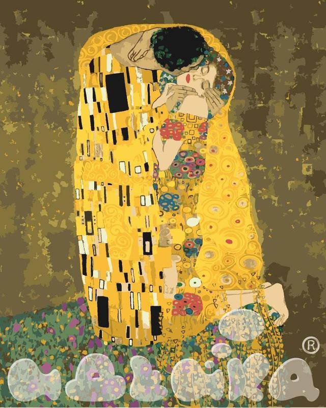 Картина по номерам Поцелуй Густав Климт 40 х 50 см