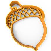 Вырубка для пряников Желудь 9*6,5 см (3D)