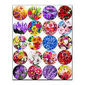 Капкейки-5 см Квіти вафельна картинка
