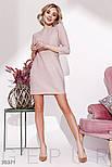 Прямое трикотажное платье с люрексом розовое, фото 2