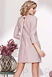 Прямое трикотажное платье с люрексом розовое, фото 3