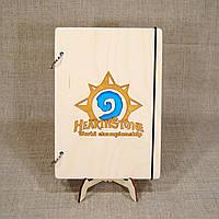 Скетчбук Hearthstone. Блокнот с деревянной обложкой., фото 1