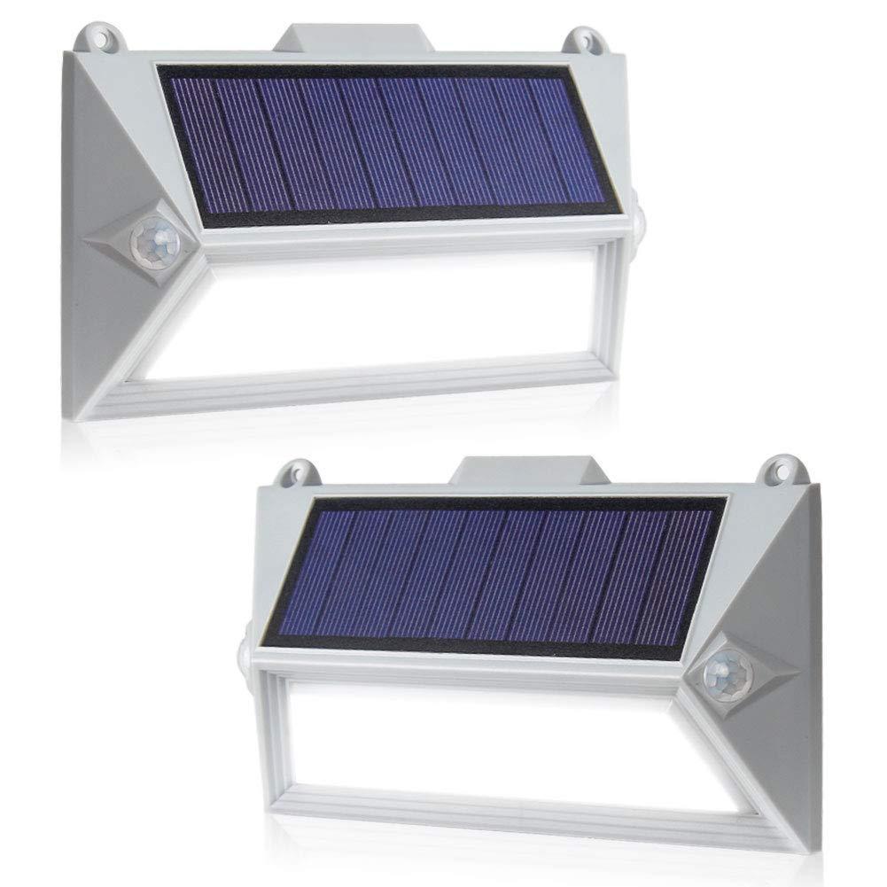 Светильники ASCELINA на солнечной батарее с датчиком движения белые 2 шт