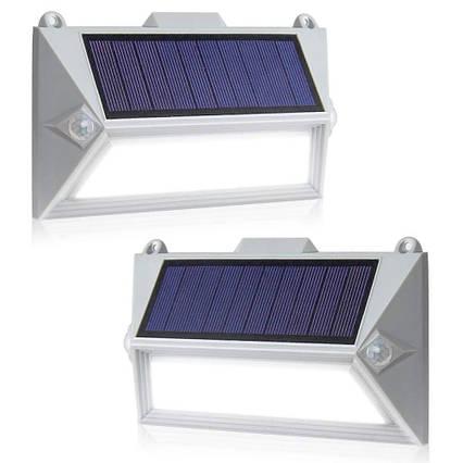 Светильники ASCELINA на солнечной батарее с датчиком движения белые 2 шт, фото 2