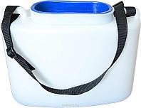 Кан для живца Белый 10 литров Тонар, ударопрочный пластик