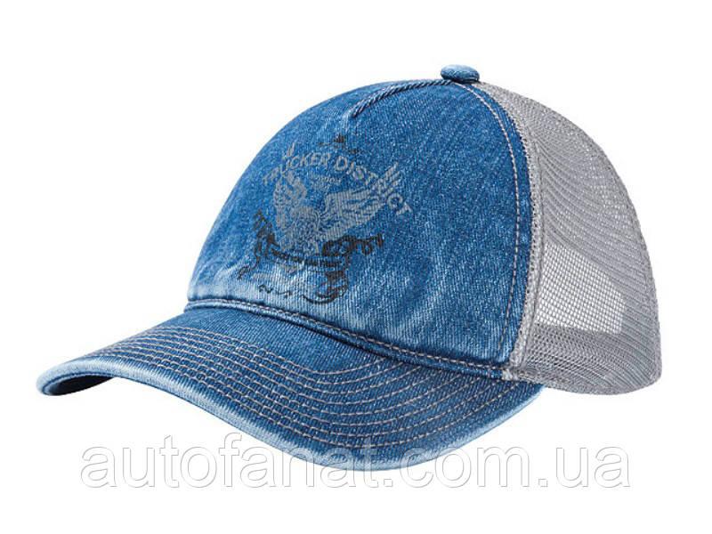 Оригинальная мужская бейсболка Mercedes Trucker Disctrict Men's Cap, Jeans Blue (B67870985)