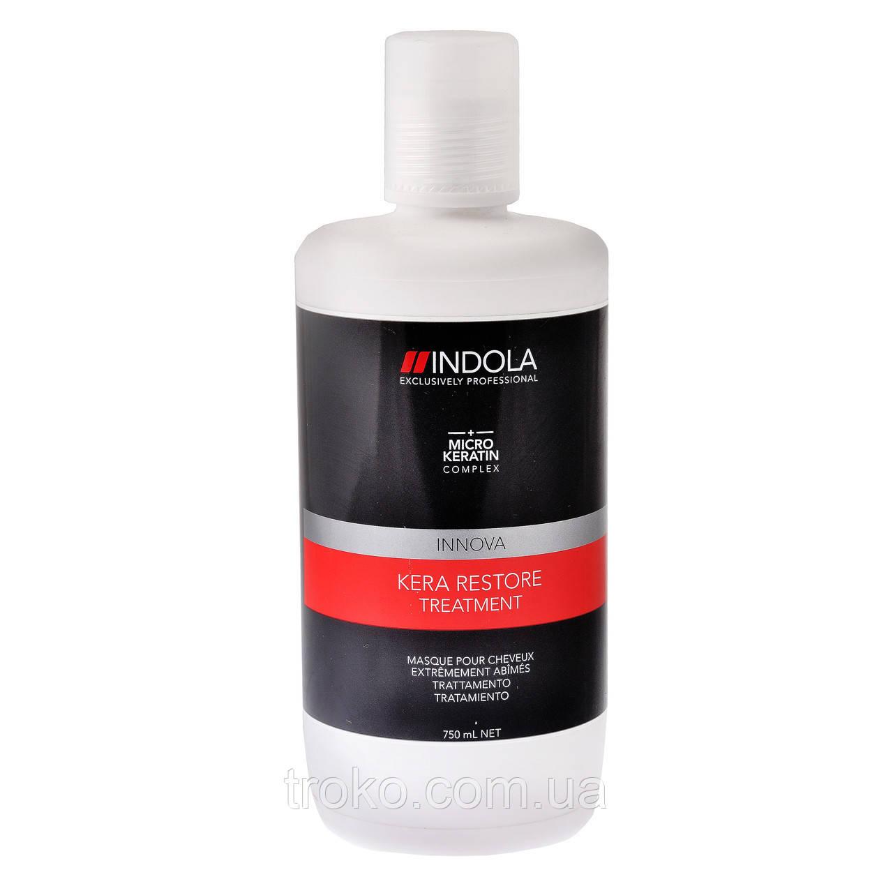 Indola Kera Restore Treatment маска для волос кератиновое восстановление, 750 мл