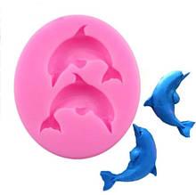 """Молд кондитерский """"Дельфины"""" - размер молда 7,5*6,5смя, силикон"""