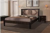 Кровать Классик 1600х2000 орех темный/рубин канзас бронза (Модуль Люкс)