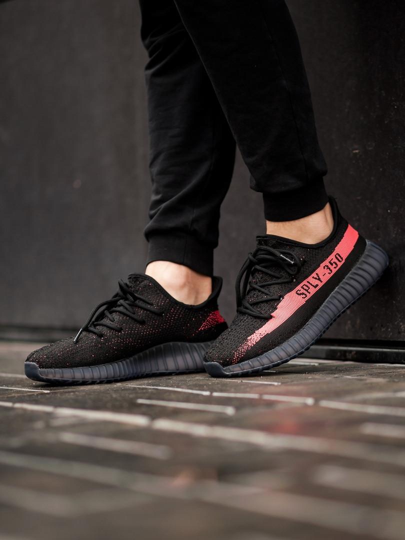 1d050090 Кроссовки мужские Adidas Yeezy Boost 350 V2 Black/Red ...