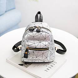 Мини-рюкзак городской женский серый
