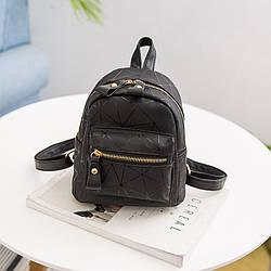 Мини-рюкзак городской женский черный