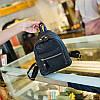 Городской женский мини-рюкзак черый, фото 2