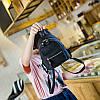 Городской женский мини-рюкзак черый, фото 4