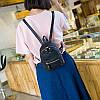Городской женский мини-рюкзак черый, фото 5