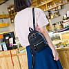 Городской женский мини-рюкзак черый, фото 6