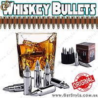 """Стальные пули для алкоголя - """"Whiskey Bullets"""" - 6 шт. + барабан!"""