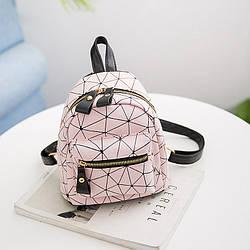 Мини-рюкзак городской женский розовый