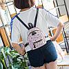 Мини-рюкзак городской женский розовый, фото 7