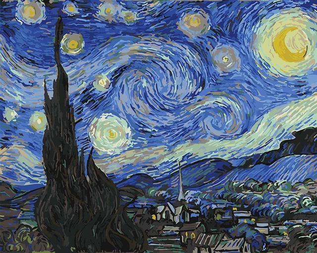 Картина по номерам Звездная ночь Винсент ван Гог 40 х 50