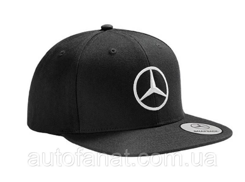 Оригинальная мужская бейсболка Mercedes Men's Flat Brim Cap, Black (B66953170)
