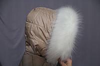 Опушка из эко меха (искусственного) белая (70 см)