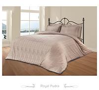 Шикарный тесненный комплект постельного белья пудрового цвета из жаккарда  тм Le vele