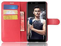 Чехол-книжка Litchie Wallet для Honor 7X Красный