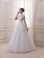 Свадебное платье (обычная фатиновая юбка, оригинальная модель)