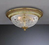 Потолочный светильник RECCAGNI ANGELO PL 6302/3 золото/стекло