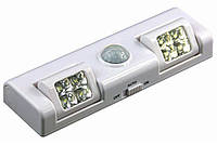 LED світильник меблевий з датчиком руху на батарейках (3хАА), фото 1