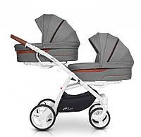 Детская универсальная коляска для двойни EasyGo 2ofus antracite (8500)