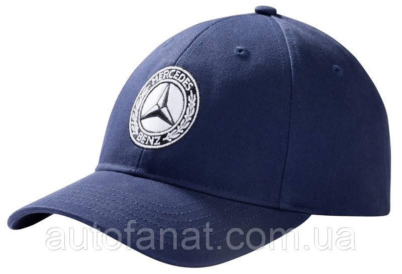 Оригинальная мужская бейсболка Mercedes Men's Cap Navy Blue, 100% Cotton (B66041540)