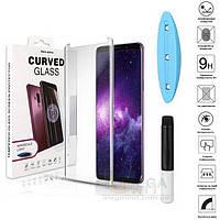UV защитное стекло 3D Nano Optics для Samsung Galaxy S9 G960 полный клей (UV лампа в комплекте)