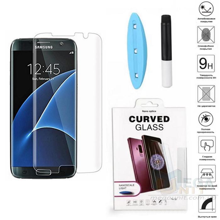 UV защитное стекло 3D Nano Optics для Samsung Galaxy S7 Edge G935 полный клей (UV лампа в комплекте)