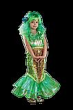 Парик длинный прямой изумрудный зеленый 62 см, фото 4