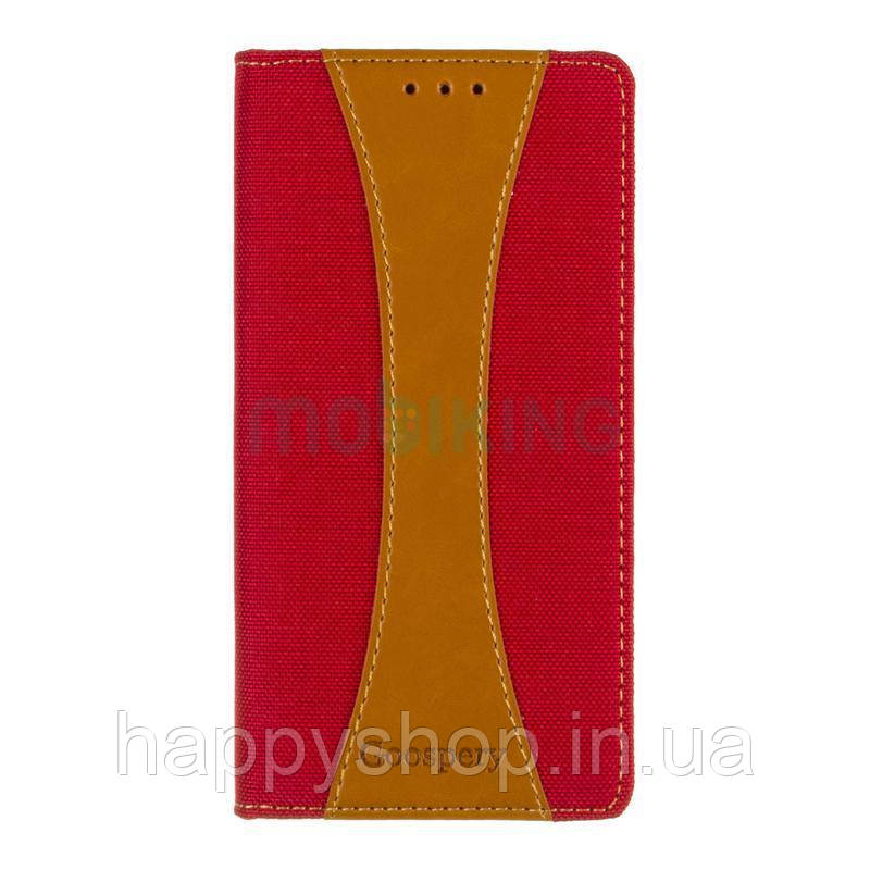 Чехол-книжка Goospery Canvas для Huawei Y7 Prime 2018 (LDN-L21) Red