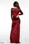 Облегающее бархатное платье в пол красное, фото 3