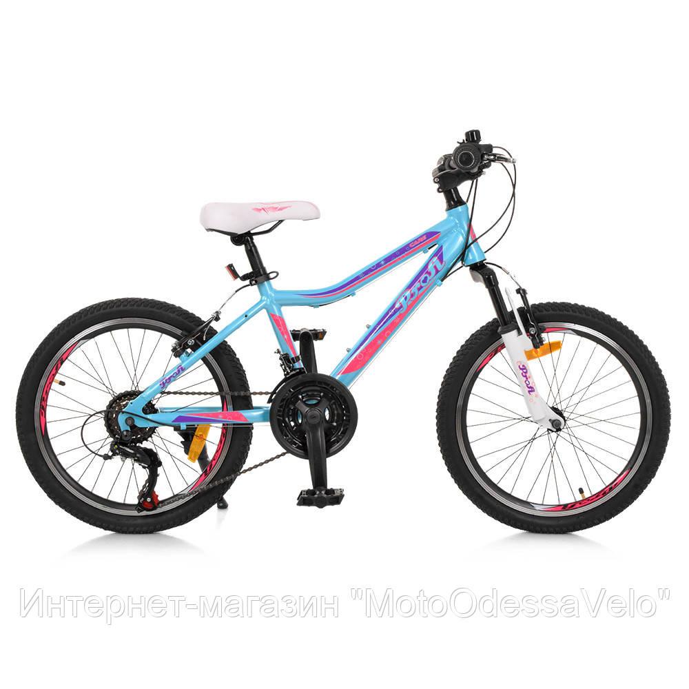 Велосипед детский PROF1 20 Д. G20CARE A20.2 голубой