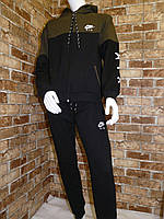 """Спортивный костюм подростковый для мальчика, """"Nike"""", 13-16 лет, темно-синий с хаки, фото 1"""