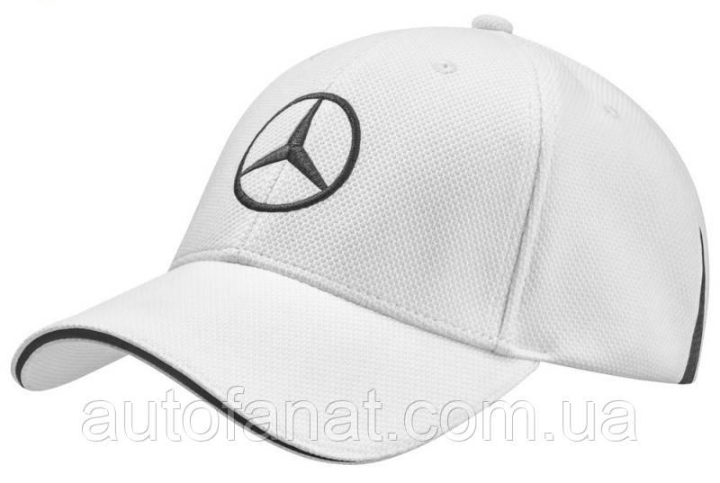 Оригинальная бейсболка унисекс Mercedes-Benz Unisex Сap, Golf Selection, White (B66954301)