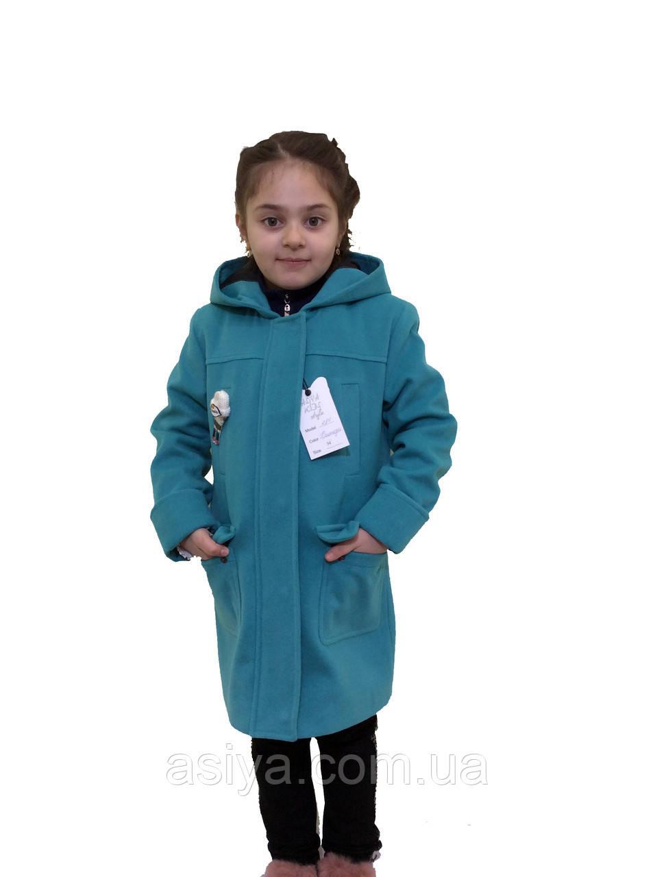 """Кашемировое пальто для девочки """"Hello"""""""
