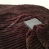 Покрывало-плед   Велюровое   Бамбуковое покрывало   Шарпей   Полоска. Размер полуторный., фото 3