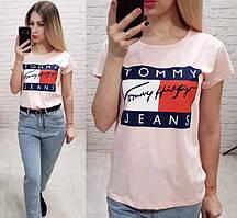 Женская футболка летняя реплика Tommy Jeans 100% катон качество турция