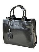 Большая кожаная женская сумка в классическом дизайне
