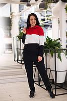 Костюм спортивный женский трехцвет в расцветках 28737, фото 1